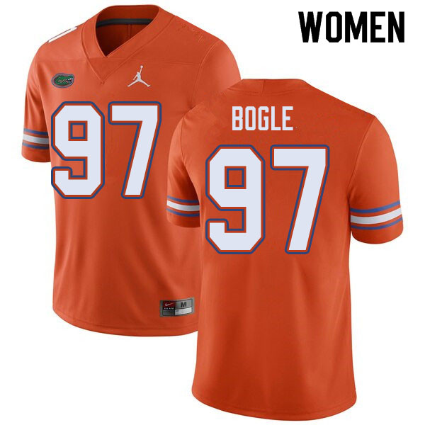 Jordan Brand Women #97 Khris Bogle Florida Gators College Football Jerseys Sale-Orange